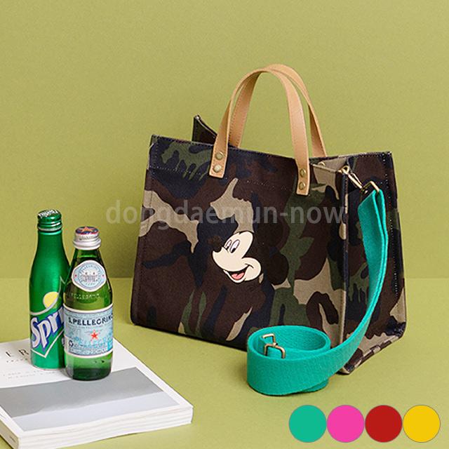 Mickeyカモフラ柄トート&ショルダーバッグ 4color