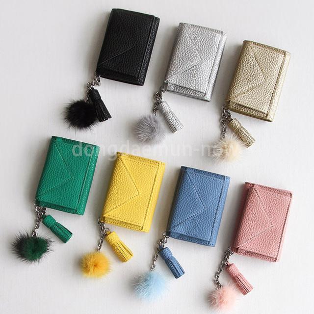 ミンクチャーム三つ折りミニ財布 7color